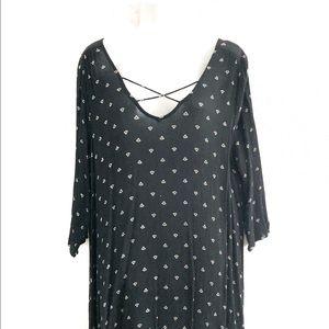 Twik v-neck mini dress. Size M